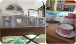 Home style feel to our rooms with real world objects for children to use