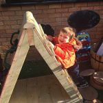Climbing frame play at Tiny Toes Hertford