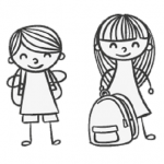 Drawing of school children designed by Freepik.com