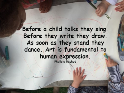 Quote about the importance of art in early childhood development